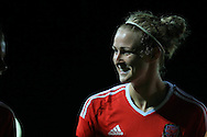 Rhiannon Roberts of Wales looks on.  Friendly International Womens football, Wales Women v Republic of Ireland Women at Rodney Parade in Newport, South Wales on Friday 19th August 2016.<br /> pic by Andrew Orchard, Andrew Orchard sports photography.