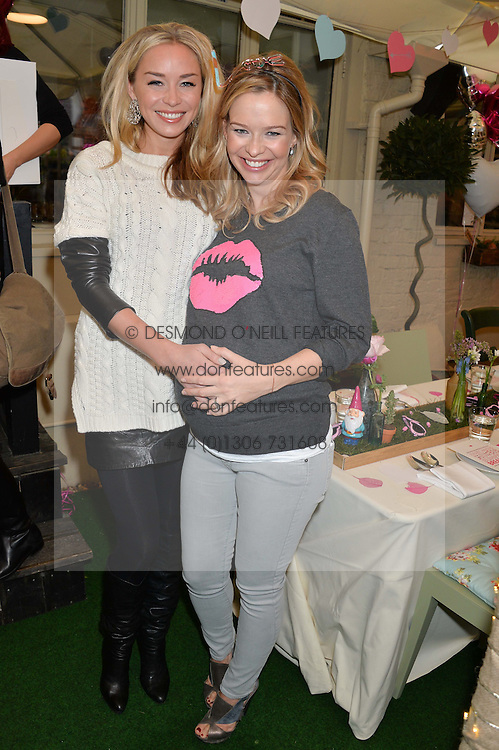 Left to right, NOELLE RENO and MARISSA HERMER at a ladies Valentine's Breakfast to launch the new healthy food menu at royal favourite restaurant Bumpkin, 119 Sydney Street, London on 14th February 2014.