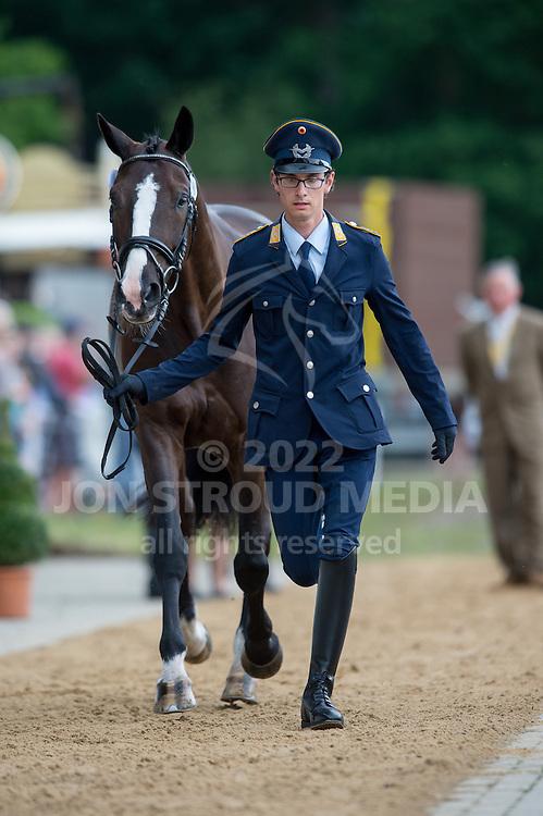 Benjamin Winter (GER) & Ispo - First Horse Inspection - CCI4* - Luhmuhlen 2014 - Salzhausen, Germany - 11 June 2014