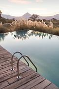 Swimming pool ladder at Tierra Atacama Hotel, San Pedro de Atacama, Chile