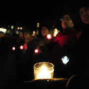 BRUNSWICK, Maine -- 12/21/15 -- About 45 volunteers, friends and guests of Tedford Housing, a homeless shelter and support organization in Brunswick came together for a remembrance service for guests and friends who passed away this year. The gathering was Tedford's part of  the National Homeless Person Memorial Service, a national event held annually on the Winter Solstice since 1990. Tedford Housing has participated since 2006. Portland and Lewiston also hosted similar events this year. Photo by Roger S. Duncan / for The Forecaster.