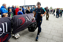 Francois Venter of Worcester Warriors arrives at The AJ Bell Stadium for his side's Gallagher Premiership fixture against Sale Sharks - Mandatory by-line: Robbie Stephenson/JMP - 09/09/2018 - RUGBY - AJ Bell Stadium - Manchester, England - Sale Sharks v Worcester Warriors - Gallagher Premiership