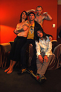 The Red Hot Chili Peppers are seen in their dressing room after they performed on Fuse in Manhattan, NY. They have released a new album. 5/9/2006 Photo by Jennifer S. Altman
