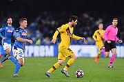 Foto Cafaro/LaPresse<br /> 25 Febbraio 2020 Napoli, Italia<br /> sport<br /> calcio<br /> SSC Napoli vs FC Barcelona - Uefa Champions League stagione 2019/20, Ottavi di finale, andata - stadio San Paolo<br /> Nella foto: Diego Demme (SSC Napoli) Lionel Messi (FC Barcelona)<br /> <br /> Photo Cafaro/LaPresse<br /> February 25, 2020 Naples, Italy<br /> sport<br /> soccer<br /> SSC Napoli vs FC Barcelona - Uefa Champions League 2019/20 season, Round of 16, First leg - San Paolo stadium<br /> In the pic: Diego Demme (SSC Napoli) Lionel Messi (FC Barcelona)