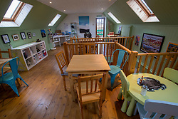 Upstairs in the Boathouse restaurant. Feature on the community on the island of Ulva, who have been awarded £4.4m in funding for their island buyout.