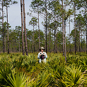 """""""I hear people call this place, the last bit of wild Florida or real Florida. You know, it's pretty cool"""" said Aline Morrow, a Fish & Wildlife Biologist for the U.S. Fish and Wildlife Service, assigned to Avon Park Air Force Range, Florida. (U.S. Air Force photo illustration by Tech. Sgt. Perry Aston)"""