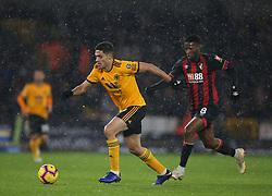 Wolverhampton Wanderers' Raul Jimenez (left) and Bournemouth's Jefferson Lerma battle for the ball