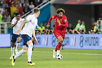 Marouane Fellaini of Belgium on the attack during the 2018 FIFA World Cup WM Weltmeisterschaft Fussball Russia Group G match between England and Belgium at the Kaliningrad Stadium, Kaliningrad, Russia on 28 June 2018. PUBLICATIONxNOTxINxUK Copyright: xPeterxDovganx 20250102