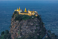 high sacred place of Mount Popa Myanmar (Burma)