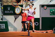 Nadia Podoroska of Argentina in action during the third round of doubles at the Roland-Garros 2021, Grand Slam tennis tournament on June 6, 2021 at Roland-Garros stadium in Paris, France - Photo Rob Prange / Spain ProSportsImages / DPPI / ProSportsImages / DPPI