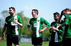 Chris Dawson of SWYD United shares a joke - Mandatory by-line: Dougie Allward/JMP - 08/05/2016 - FOOTBALL - Keynsham FC - Bristol, England - BAWA Sports v SWYD United - Presidents cup final