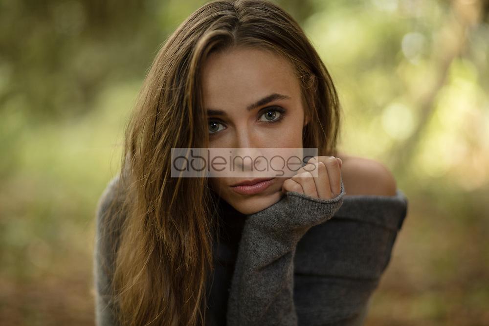 Beauty Portrait of Woman Outdoors