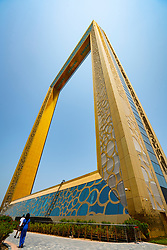 The Dubai Frame , a new tourist attraction with elevated viewing platform, in Dubai, UAE, United Arab Emirates