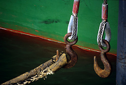Stock photo of two hanging hooks