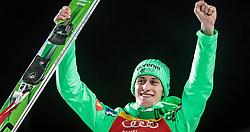 06.01.2016, Paul Ausserleitner Schanze, Bischofshofen, AUT, FIS Weltcup Ski Sprung, Vierschanzentournee, Bischofshofen, XXX, im Bild Peter Prevc (SLO) // Peter Prevc of Slovenia celebrate his winner on overall podium of the Four Hills Tournament of FIS Ski Jumping World Cup at the Paul Ausserleitner Schanze in Bischofshofen, Austria on 2016/01/06. EXPA Pictures © 2016, PhotoCredit: EXPA/ JFK