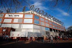 A General View as Aston Villa fans arrive outside Villa Park - Photo mandatory by-line: Rogan Thomson/JMP - 07966 386802 - 07/04/2015 - SPORT - FOOTBALL - Birmingham, England - Villa Park - Aston Villa v Queens Park Rangers - Barclays Premier League.