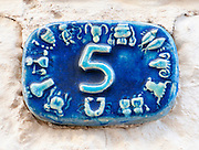 Ceramic numbers the number five
