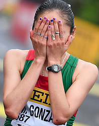 TAICANG, May 5, 2018  Mexico's Gonzalez Maria Guadalupe celebrates after winning the women's 20km competition at the IAAF World Race Walking Team Championships Taicang 2018 in Taicang, east China's Jiangsu Province, May 5, 2018. Gonzalez claimed the title with 1.26:38. (Credit Image: © Ji Chunpeng/Xinhua via ZUMA Wire)