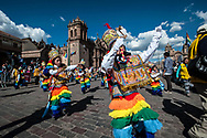 Feast of Corpus Christi. children dancing in the square