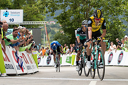 Primoz Roglic of Team Lotto NL Jumbo at finish line during 3rd Stage of 25th Tour de Slovenie 2018 cycling race between Slovenske Konjice and Celje (175,7 km), on June 15, 2018 in  Slovenia. Photo by Matic Klansek Velej / Sportida