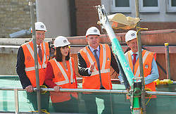 Labour visit Cross Rail site. <br /> (L-R) Sir John Armitt, Rt Hon Ed Balls MP, Rachel Reeves MP and Terry Morgan CBE - Crossrail visiting Cross Rail site at Bond Street station during the Armitt infrastructure planning review launch, London, United Kingdom. Thursday, 5th September 2013. Picture by Elliot Franks / i-Images