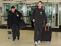 06/01/15 <br /> GLASGOW AIRPORT<br /> Celtic manager Ronny Deila arrives at Glasgow Airport