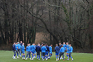 A general view during training. the Cardiff city football team training at the Vale, Hensol near Cardiff ahead of their Carling cup final match against Liverpool on Thursday 23rd Feb 2012.  pic by Andrew Orchard, Andrew Orchard sports photography, .