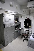 Officer's cabin on the USS Missouri. Battleship Missouri Memorial, Pearl Harbour, Hawaii RIGHTS MANAGED LICENSE AVAILABLE FROM www.PhotoLibrary.com