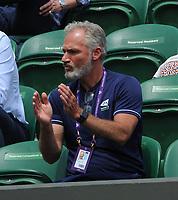 Lawn Tennis - 2021 All England Championships - Week Two - Friday - Wimbledon<br /> Boys event - Jack Pinnington - Jones v Kalin Ivanovski<br /> <br /> Martin Weston - LTA coach of Jack Pinnington - Jones of GBR<br /> <br /> <br /> Credit : COLORSPORT/Andrew Cowie