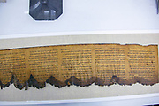 Dead Sea Scrolls in the Shrine of the Book in the Israel Museum Jerusalem, Israel
