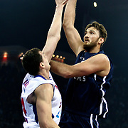 Anadolu Efes's Semih Erden (R) during their Euroleague Top 16 game 8 basketball match Anadolu Efes between CSKA Moscow at the Abdi Ipekci Arena in Istanbul at Turkey on Friday, February, 22, 2013. Photo by TURKPIX