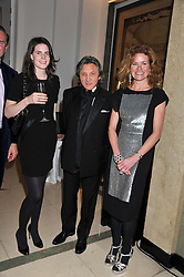 Left to right, LADY LAURA CATHCART, LEON MAX and ERIN MORRIS at a dinner and dance hosted by Leon Max for the charity Too Many Women in support of Breakthrough Breast Cancer held at Claridges, Brook Street, London on 1st December 2011.