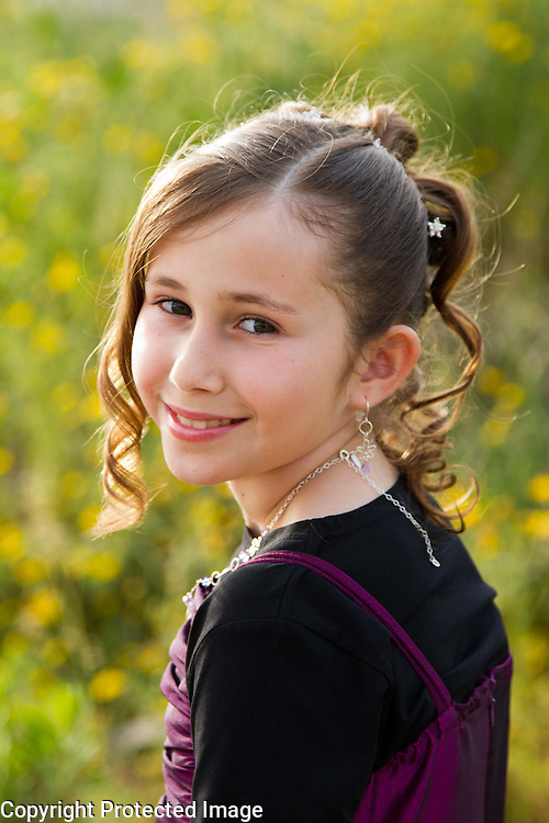Bat Mitzvah girl, Modiin Israel. Portrait Photography by Debbie Zimelman, Modiin Israel.