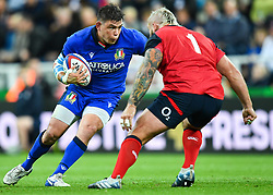 Oliviero Fabiani of Italy in action during todays match<br /> <br /> Photographer Craig Thomas/Replay Images<br /> <br /> Quilter International - England v Italy - Friday 6th September 2019 - St James' Park - Newcastle<br /> <br /> World Copyright © Replay Images . All rights reserved. info@replayimages.co.uk - http://replayimages.co.uk