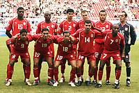 Fotball<br /> Foto: Dppi/Digitalsport<br /> NORWAY ONLY<br /> <br /> FOOTBALL - CONFEDERATIONS CUP 2005 - GROUP A - ARGENTINA v TUNISIA - 15/06/2005 - TUNISIA TEAM (BACK ROW LEFT TO RIGHT: RADHI JAIDI / HATEM TRABELSI / KARIM SAIDI / KARIM ESSEDIRI / JAWHAR MNARI / KHALED FADHEL. FRONT ROW: HAYKEL GUEMAMDIA / ANIS AYARI / SALIM BENACHOUR / ADEL CHADLI / IMED MHADHEBI)