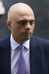 Downing Street, London, May 17th 2016. State for Business Secretary Sajid Javid leaves the weekly cabinet meeting in Downing Street.