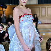 Paris Summer Allen is a catwalk model and heavy pregnant modelling at The British luxury Womenswear designer, Chanel Joan Elkayam, showcases her Autumn - Winter 2020 show ahead of London Fashion Week on 13 February 2020 at Cecil Sharp House, London, UK.