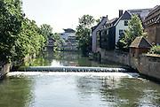 Nuremberg, Bavaria, Germany the  Pegnitz river