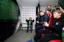 Bristol Rovers fans and James Clarke of Bristol Rovers play FIFA 18 in the EA Hub before the game against Doncaster Rovers - Mandatory by-line: Dougie Allward/JMP - 23/12/2017 - FOOTBALL - Memorial Stadium - Bristol, England - Bristol Rovers v Doncaster Rovers - Skt Bet League One