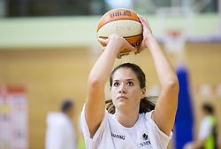 Katja Kotnik during practice session of Slovenian Women Basketball Team, on May 14, 2014 in Arena Vitranc, Kranjska Gora, Slovenia. Photo by Vid Ponikvar / Sportida