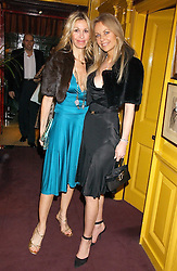 Left to right, MELISSA ODOBASH and SABINA MACTAGGART at a dinner hosted by Stratis & Maria Hatzistefanis at Annabel's, Berkeley Square, London on 24th March 2006 following the christening of their son earlier in the day.<br /><br />NON EXCLUSIVE - WORLD RIGHTS