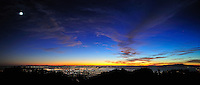 Sunset view of San Francisco and Oakland from the Berkeley Hills