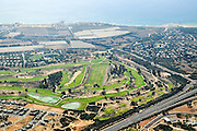 Aerial photography of Israel, Costal Plaine, the golf course at the modern town of Caesarea
