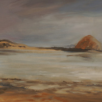 Low Tide in Baywood. Plein air oil sketch, 9 x 12.