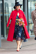 Koningin Maxima krijgt een rondleiding over de tentoonstelling Humania in het NEMO Science Museum. <br /> <br /> Queen Maxima will be given a tour of the Humania exhibition at the NEMO Science Museum.