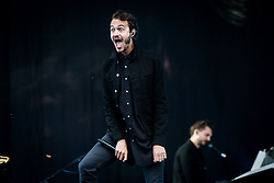 June 17, 2018 - Landgraaf, Limburg, Netherlands - Tom Smith of Editors performing live at Pinkpop Festival 2018 in Landgraaf, Netherlands, on 17 June 2018. (Credit Image: © Roberto Finizio/NurPhoto via ZUMA Press)