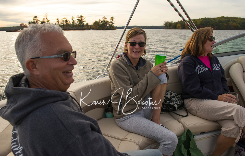 Fall cruise on Lake Winnipesaukee.  ©2017 Karen Bobotas Photographer
