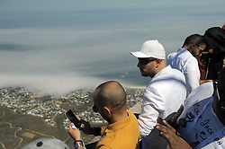 Cape Town - 181025 - Maher Zain visits the top of Table Mountain where he held a press conference prior to his Cape Town concert. Swedish singer, songwriter, and music producer of Lebanese origin, Maher Zain is arguably the biggest name in the Islamic Music genre. Maher will be accompanied by his international band of musicians from Egypt, Spain, Lebanon, Belgium, Netherlands, UK and the Cape Town Philharmonic Orchestra. Photograph: Armand Hough / African News Agency (ANA)