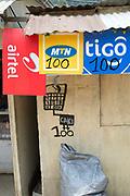 Rwanda 2014 Kibuyé. Booth selling phone cards.