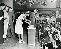 1943 Ginger Rogers at the Hollywood Canteen